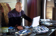Captain Picard is very busy in his quarters